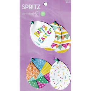 Happy Easter Egg Gift Tags with Strings (8 Pack)