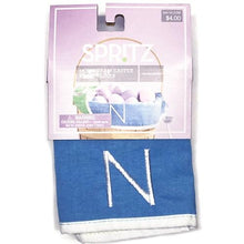 "Load image into Gallery viewer, Blue/Green Reversible 16"" x 6"" x 7"" Wide Basket Liner (Select Letter Monogram)"