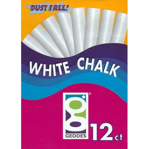 Geddes Non-Toxic Dust Free White Chalk (12 Pack) only $1.00 at DollarFanatic.com America's First & Only Exclusively Online $1 Store.