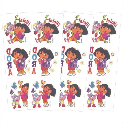 Nickelodeon Dora the Explorer Temporary Tattoos (Pack of 12)