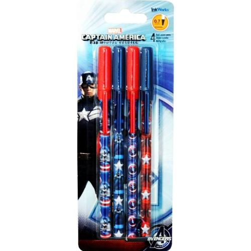 Marvel Captain America The Winter Soldier Ball Point Pens (4 Pack) only $1.00 at DollarFanatic.com America's First & Only Exclusively Online $1 Store.