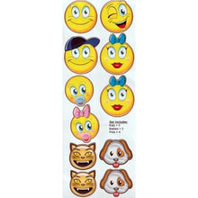 Load image into Gallery viewer, Emoticons Emoji Family Window Sticker Decal Pack (11 Count Sheet)
