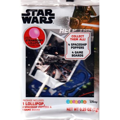 Star Wars Spaceship Poppers Game and Lollipop Pack