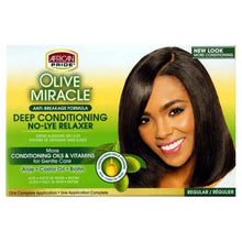 Load image into Gallery viewer, African Pride Olive Miracle Deep Conditioning No-Lye Relaxer - Regular