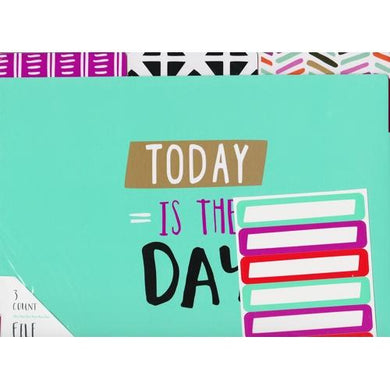 1/3 Cut Letter Size File Folders with File Labels - Colorful Messages (3 Tab Pack) 20% to 80% Off at DollarFanatic.com America's Online Dollar Store