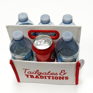 Tailgates & Traditons Canvas Caddy (Holds 6 Cans or Bottles)