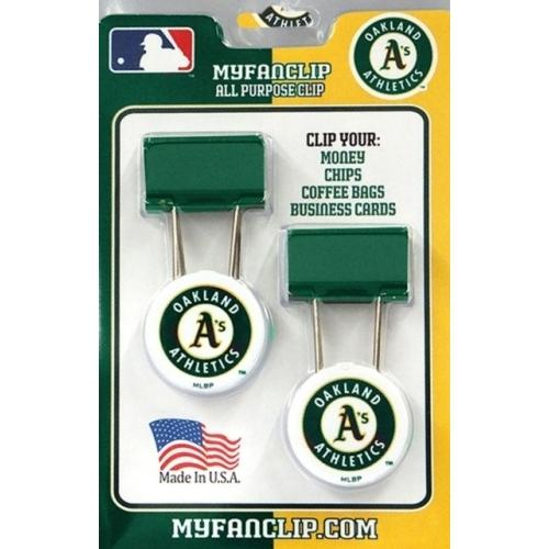 MLB Oakland A's Athletics MyFanClip All-Purpose Binder Clips (2 Pack)