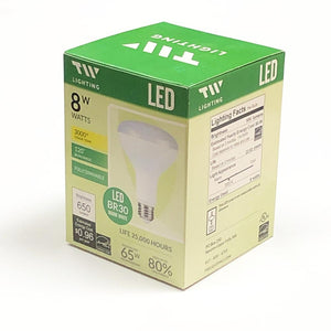 8W LED BR30 Flood Light Bulb Fully Dimmable Warm White with Free Local Delivery in Champaign & Vermilion County IL.