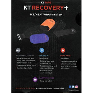 KT Tape KT Recovery + Ice/Heat Compression Wrap Therapy System with Carrying Case