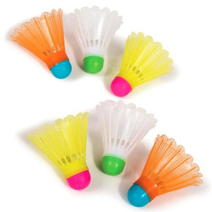 Badminton Shuttlecocks - Official Size (6 Pack)