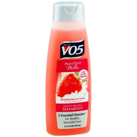 Alberto V05 Moisture Milks Strawberries and Cream Moisturizing Shampoo with Soy Milk Protein (12.5 fl. Oz) only $1.00 at DollarFanatic.com America's First & Only Exclusively Online $1 Store.
