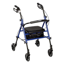 Load image into Gallery viewer, Drive 2-in-1 Adjustable Height Rollator Walker (Blue) RTL10261BL