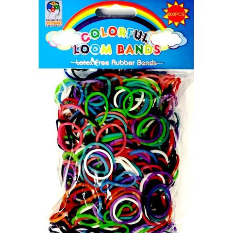 Loom Rubber Band Rainbow Colors Refill Pack (600 Bands & 25 S Clips)