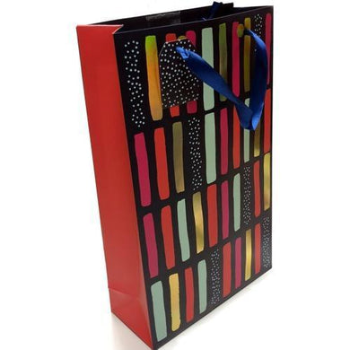 Cakewalk Painted Stripes 2 Bottle Gift Bag (13.75