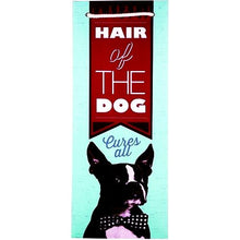 "Load image into Gallery viewer, Cakewalk Hair of the Dog Cures All Boston Terrier Dog Single Bottle Gift Bag (14"" x 5.25"" x 5.25"")"