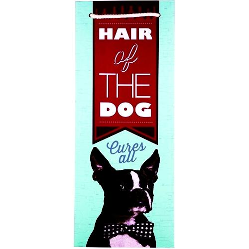 Cakewalk Hair of the Dog Cures All Boston Terrier Dog Single Bottle Gift Bag (14