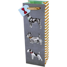 "Load image into Gallery viewer, Cakewalk Best in Show Terrier Dogs Single Bottle Gift Bag (14"" x 4.5"" x 3.5"")"