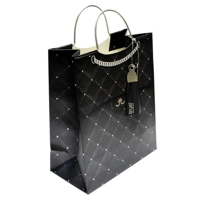 Black Quilted Purse Design Gift Bag (Medium - 9.5