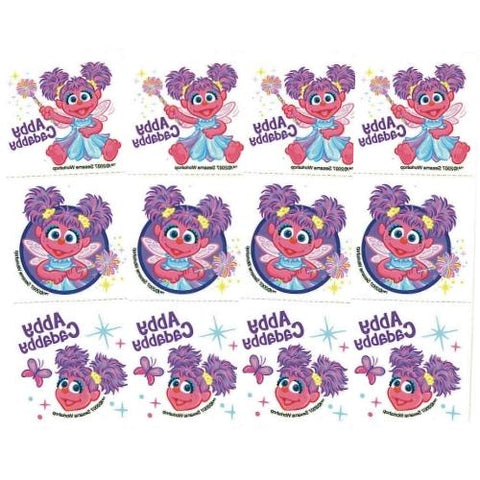 Sesame Street Abby Cadabby Temporary Tattoos (Pack of 12) only $1.00 at DollarFanatic.com America's First & Only Exclusively Online $1 Store.