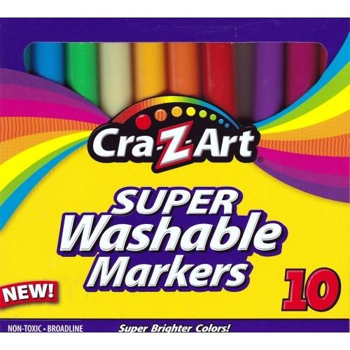 Cra-Z-Art Super Brighter Washable Bold Colors Non-Toxic BroadLine Markers (10 Pack) only $1.00 at DollarFanatic.com America's First & Only Exclusively Online $1 Store.