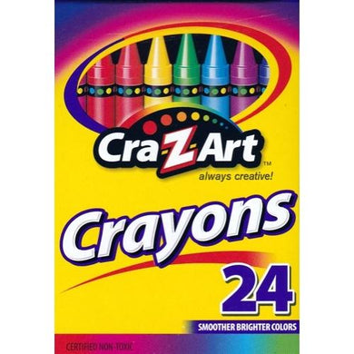 Cra-Z-Art Smoother Brighter Colors Non-toxic Crayons (24 Pack) 20% to 80% Off at DollarFanatic.com America's Online Dollar Store