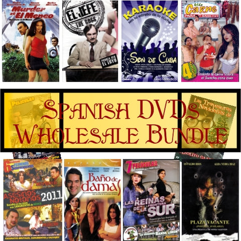 Bundle of 30 Assorted Spanish Peliculas DVDs