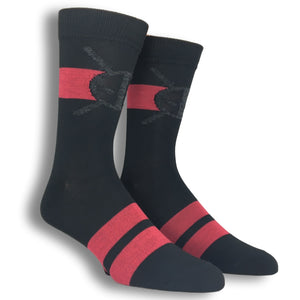 2 Pair Pack Marvel Deadpool Superhero Socks - The Sock Spot