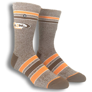 A&W Root Beer Logo Athletic Socks by Odd Sox - The Sock Spot
