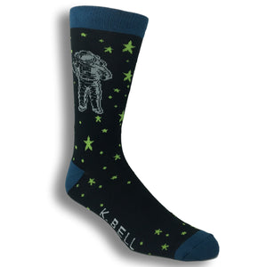 Astronaut in Deep Space Socks - Made In America by K.Bell - The Sock Spot
