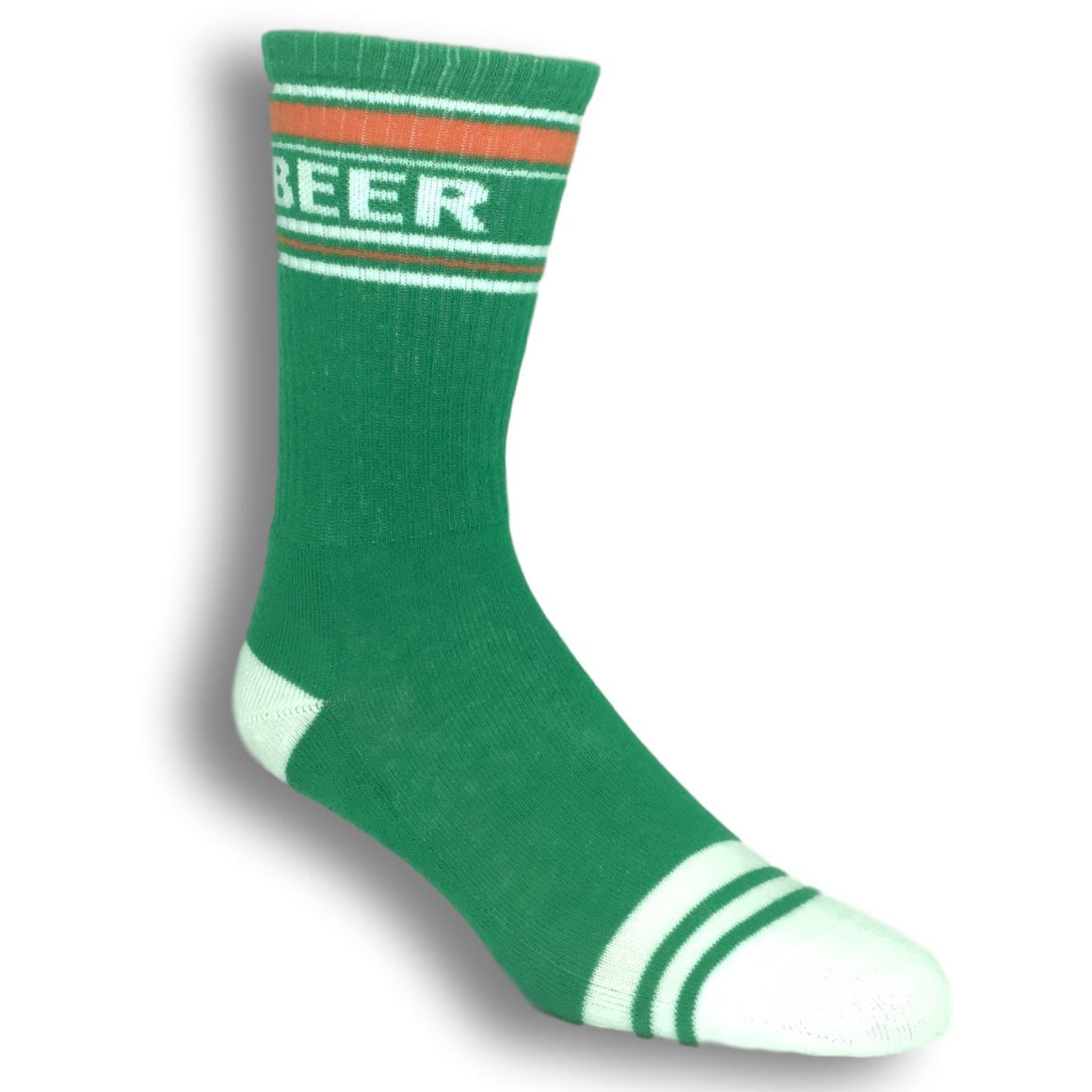 Beer Athletic Socks in Green Made in the USA by Gumball Poodle - The Sock Spot
