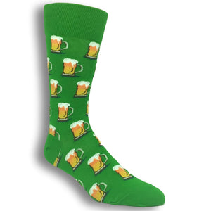 Beer Socks in Green by Hot Sox - The Sock Spot