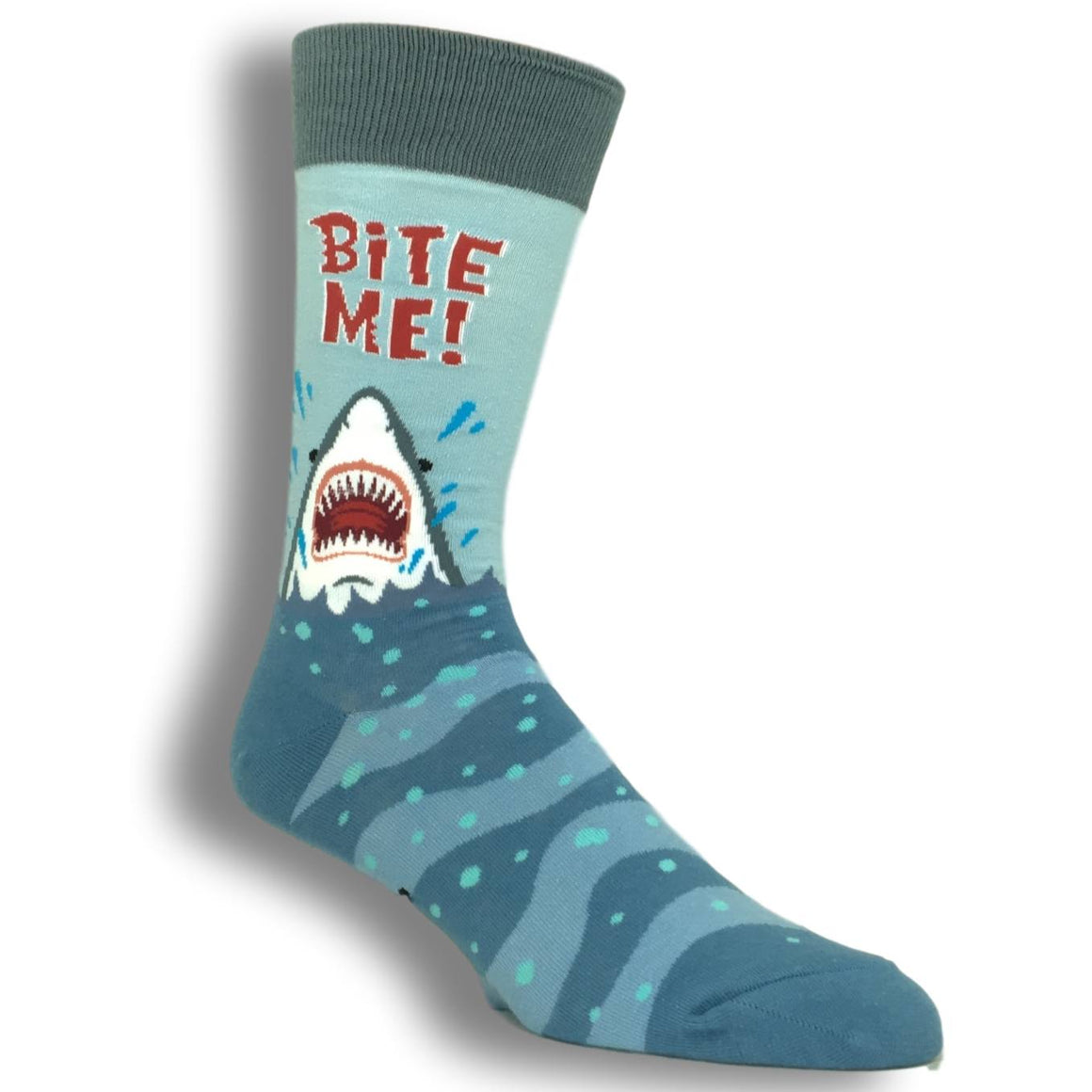 Bite Me Shark Socks by Foot Traffic - The Sock Spot