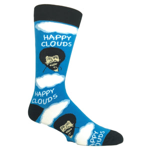 Bob Ross Happy Clouds Socks by Oooh Yeah Socks - The Sock Spot