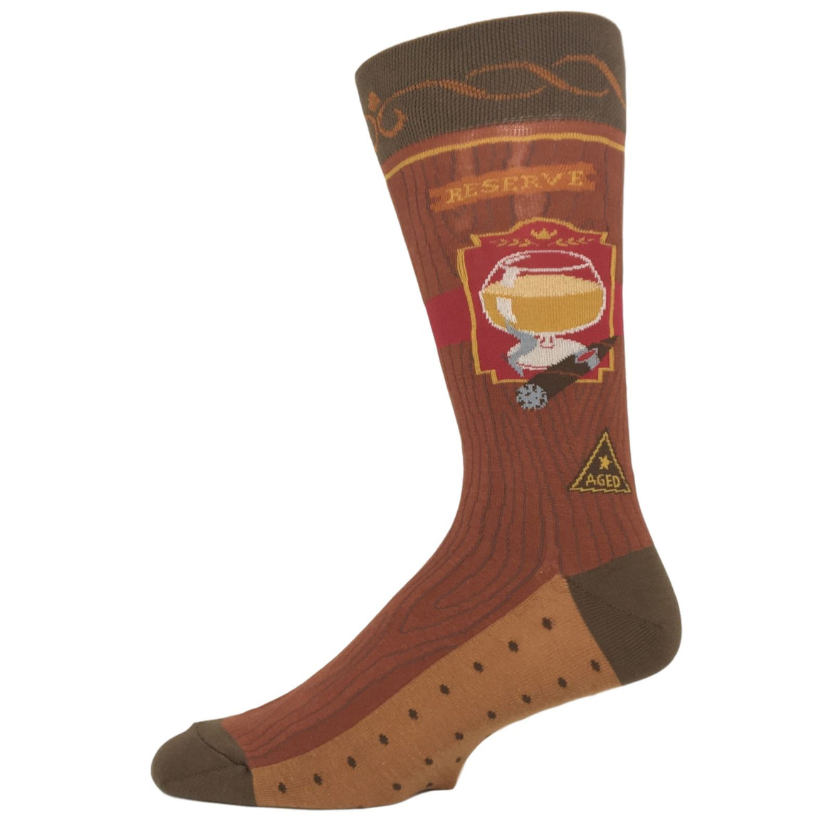 Bourbon and Cigar Socks by Foot Traffic - The Sock Spot