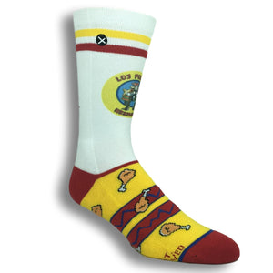 Breaking Bad Los Pollos Hermanos Printed Socks by Odd Sox - The Sock Spot