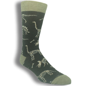Can You Dig It? Dinosaur Socks in Brown by SockSmith - The Sock Spot