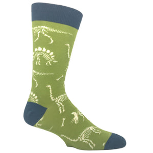 Can You Dig It? Dinosaur Socks in Green by SockSmith - The Sock Spot