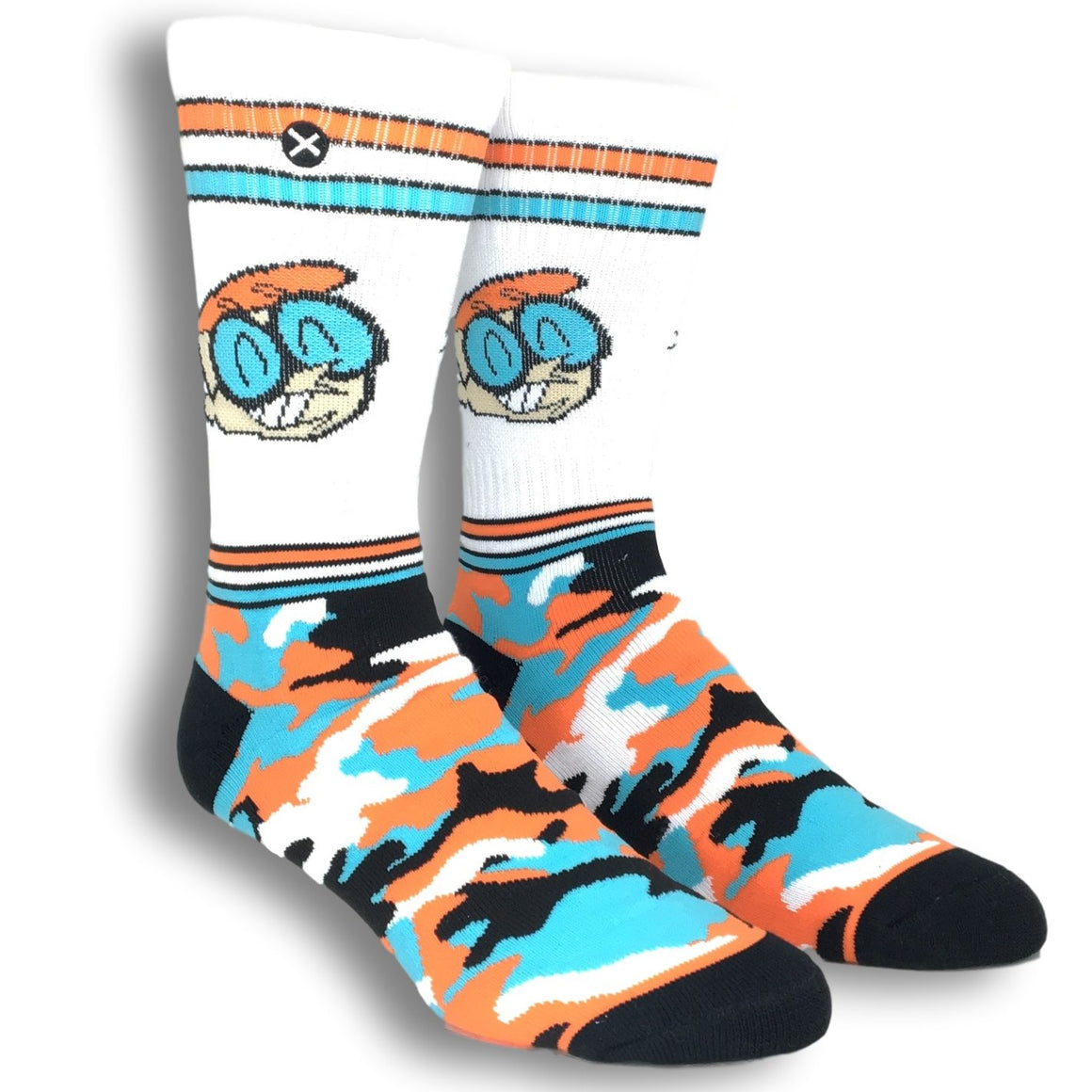 Cartoon Network Dexter's Laboratory Camo Athletic Socks by Odd Sox - The Sock Spot