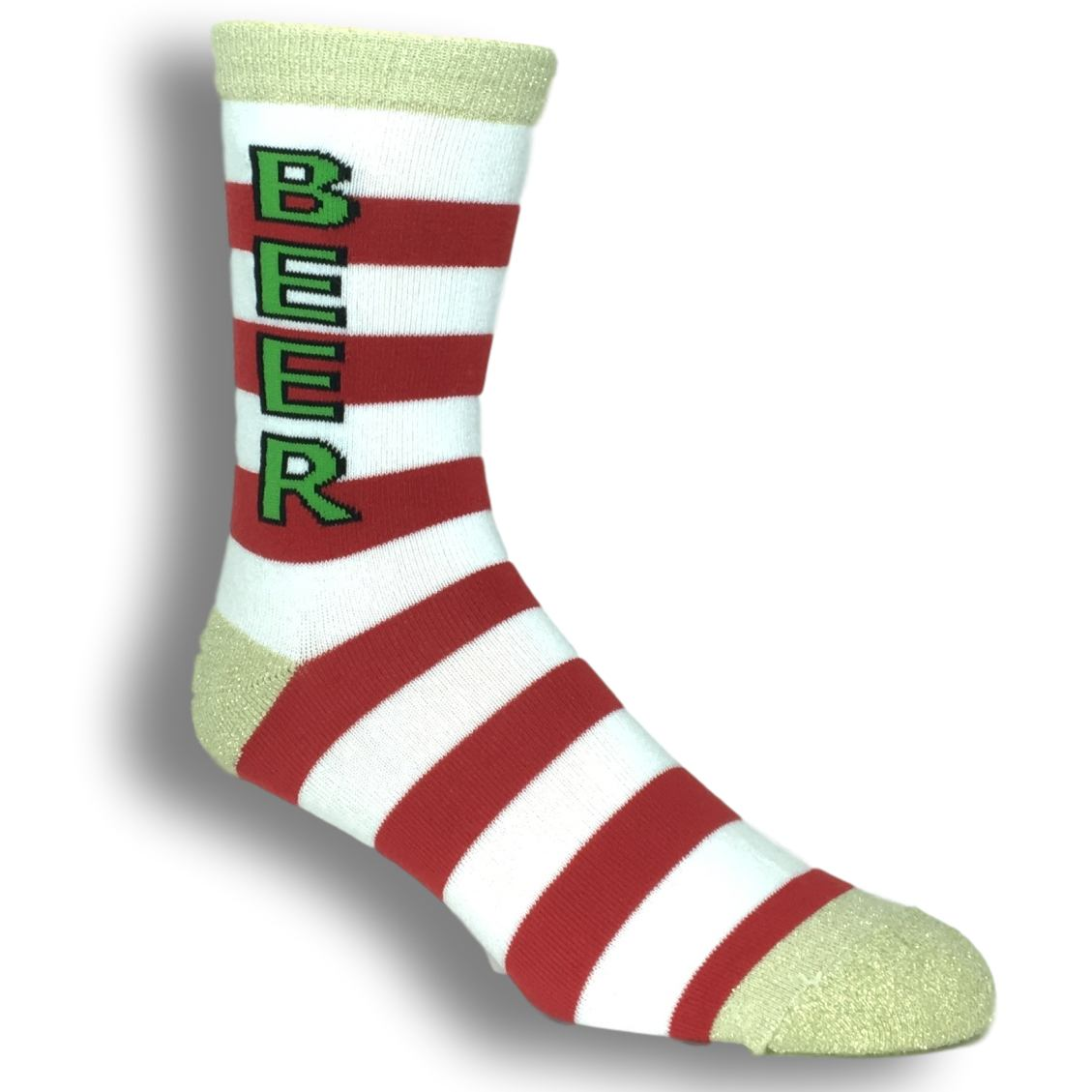 Christmas Beer Socks by Gumball Poodle - The Sock Spot