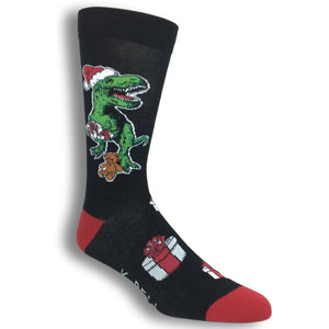 Christmas Rex Socks by K.Bell - The Sock Spot