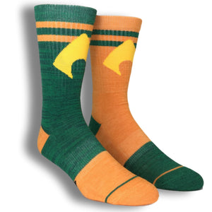 DC Comics Aquaman Flipped Colors Athletic Superhero Socks - The Sock Spot