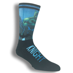 DC Comics Batman Dark Knight Vertical Printed Socks - The Sock Spot
