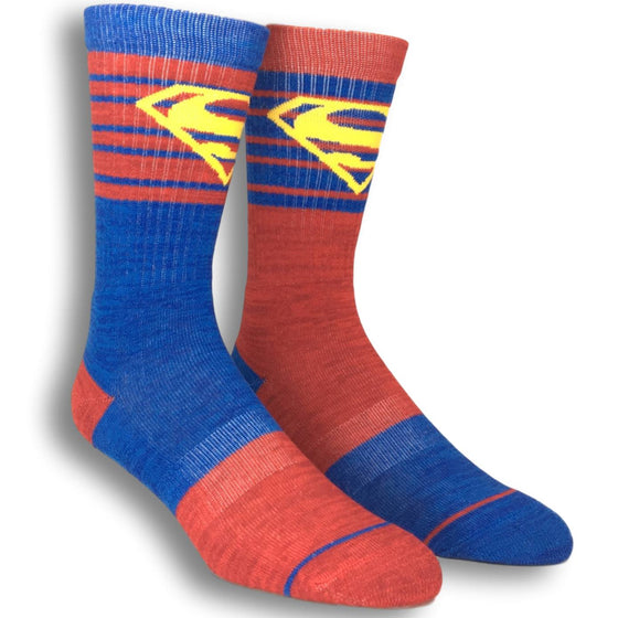 DC Comics Superman Flipped Colors Athletic Superhero Socks - The Sock Spot
