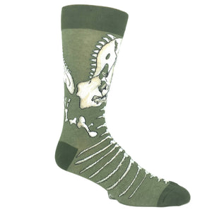 Dinosaur Bones Ankle Biter Socks by K.Bell - The Sock Spot