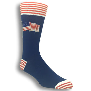 Flying Flag Socks in Blue by Hot Sox - The Sock Spot