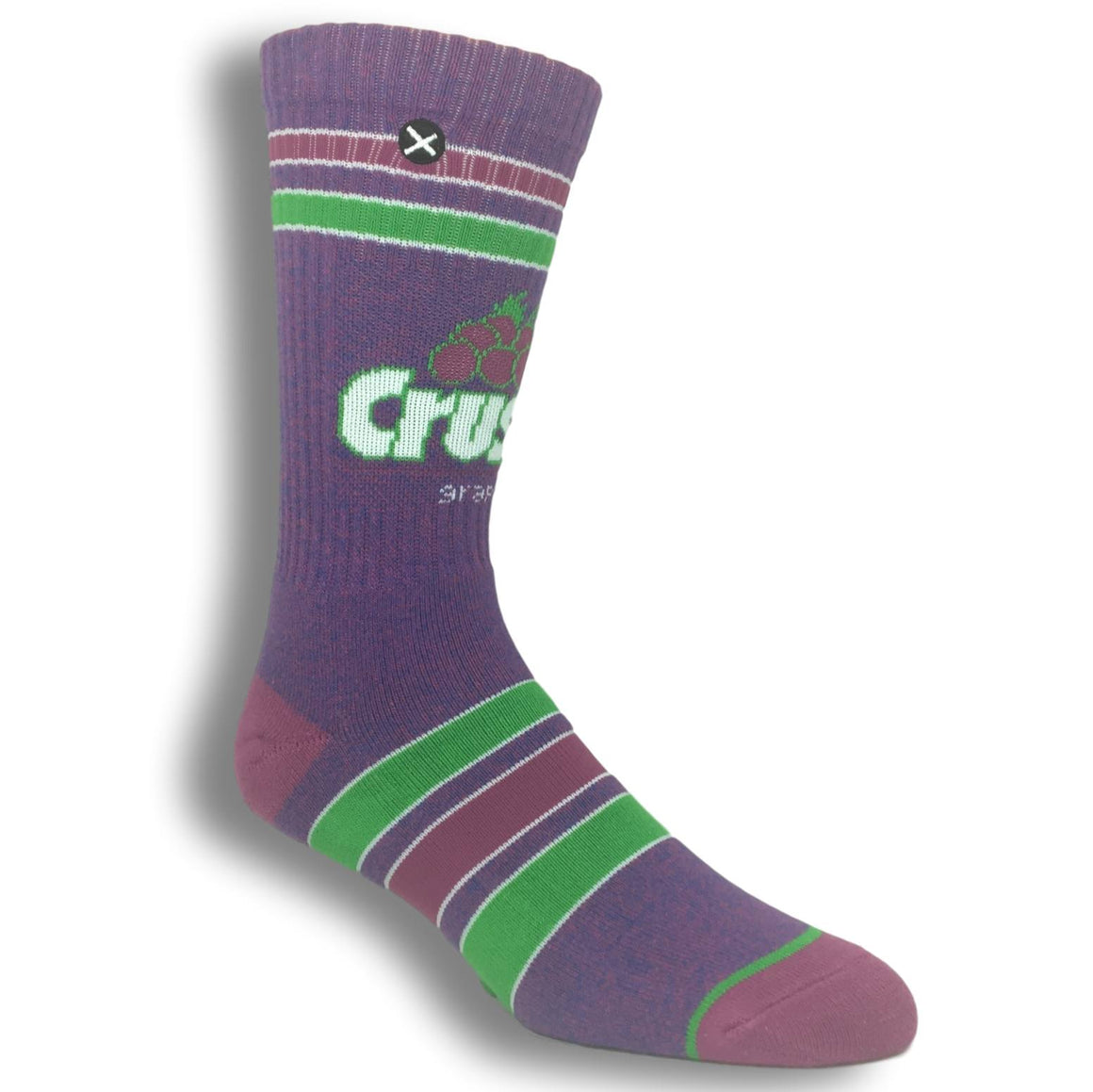 Grape Crush Logo Socks by Odd Sox - The Sock Spot