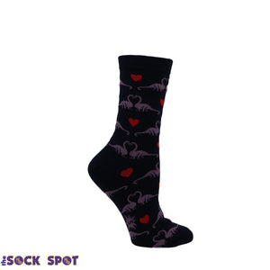 Happy You Exist Dinosaur Women's Socks by Sock it to Me - The Sock Spot