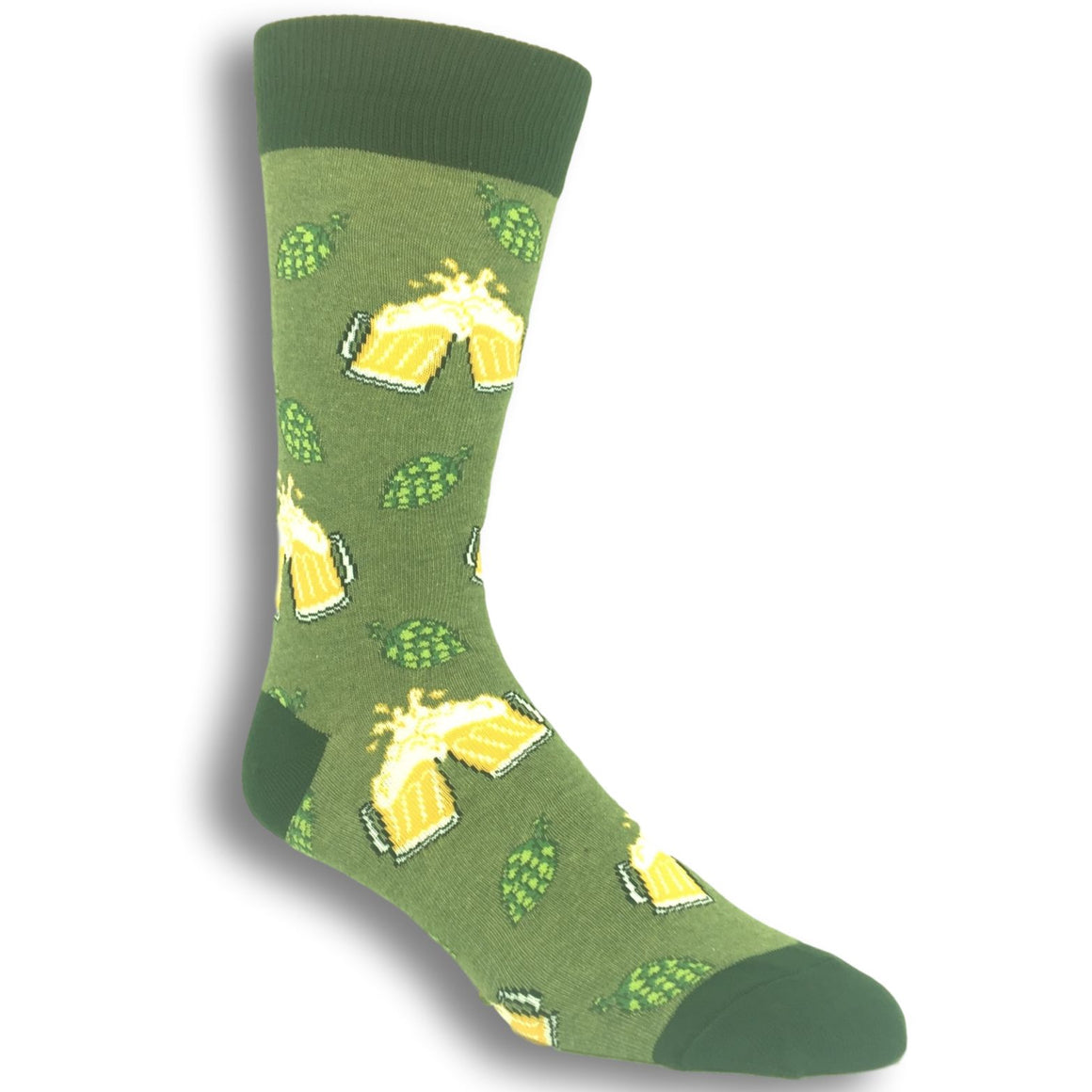 Hoppier Together Beer Socks In Green By SockSmith