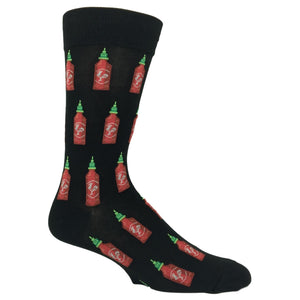 Hot Sauce Socks in Black by Hot Sox - The Sock Spot