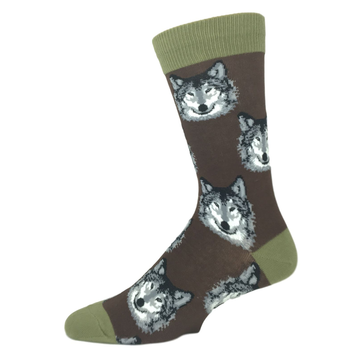 Hungry Like The Wolf Socks - Brown